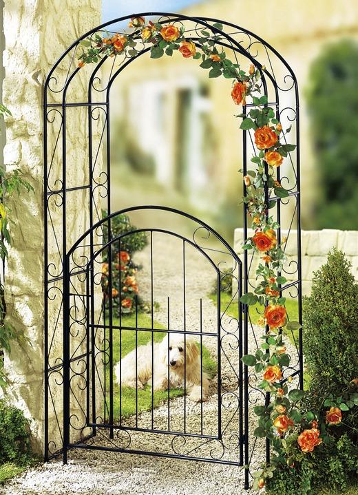 rosenbogen mit tor gartendekoration brigitte salzburg. Black Bedroom Furniture Sets. Home Design Ideas