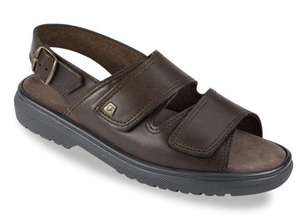 106cbe546b82 Hochwertige Sandale in 3 Farben mit herausnehmbarem Lederfußbett,  Extraweite K