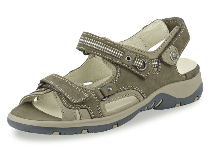 Komfortschuhe - Sandalette in 6 Farben mit herausnehmbarem Lederfußbett,  Weite H, in Größe 4 6ca5263349