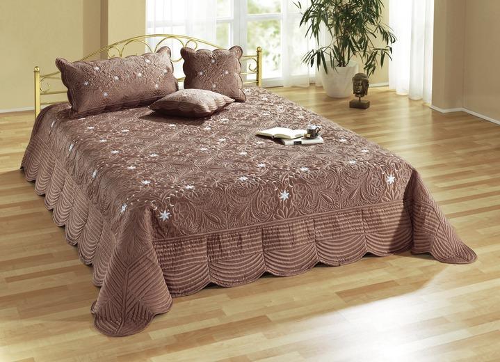 tagesdecke kissenbez ge in verschiedenen farben tagesdecken brigitte salzburg. Black Bedroom Furniture Sets. Home Design Ideas