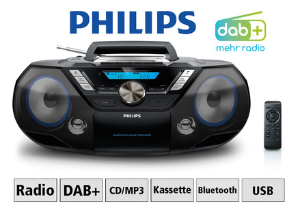 Philips AZB798T CD-/Kassetten-/DAB+ Radio