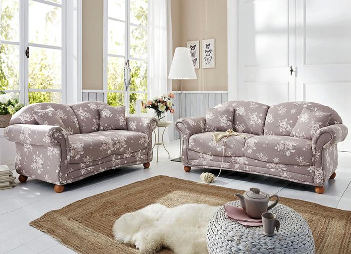 Romantisch blumige polsterm bel verschiedene ausf hrungen wohnzimmer brigitte salzburg - Polsterecke landhausstil ...