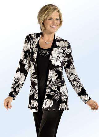 d9471cb3245357 KLAUS MODELLE MADE IN GERMANY Shirtjacke in verschlussloser Form 69,90 €