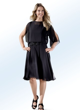 Party-Kleid mit dekorativer Perlenzier