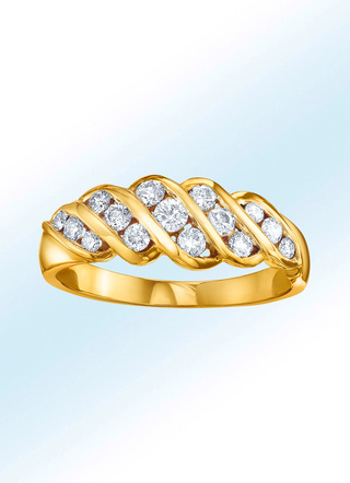 Eleganter Damenring mit 15 Brillanten