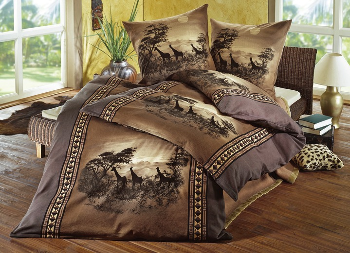 dobnig bettw sche garnitur afrika verschiedene farben bettw sche brigitte salzburg. Black Bedroom Furniture Sets. Home Design Ideas