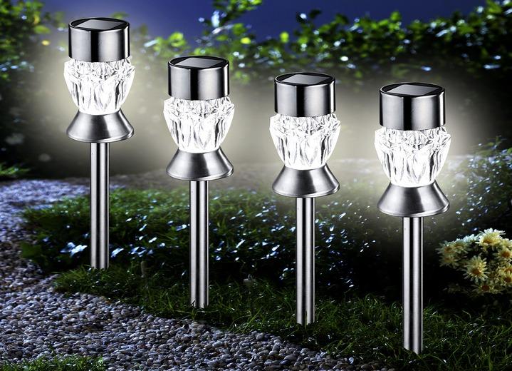 solarleuchten diamond 4er set verschiedene ausf hrungen gartenbeleuchtung brigitte salzburg. Black Bedroom Furniture Sets. Home Design Ideas