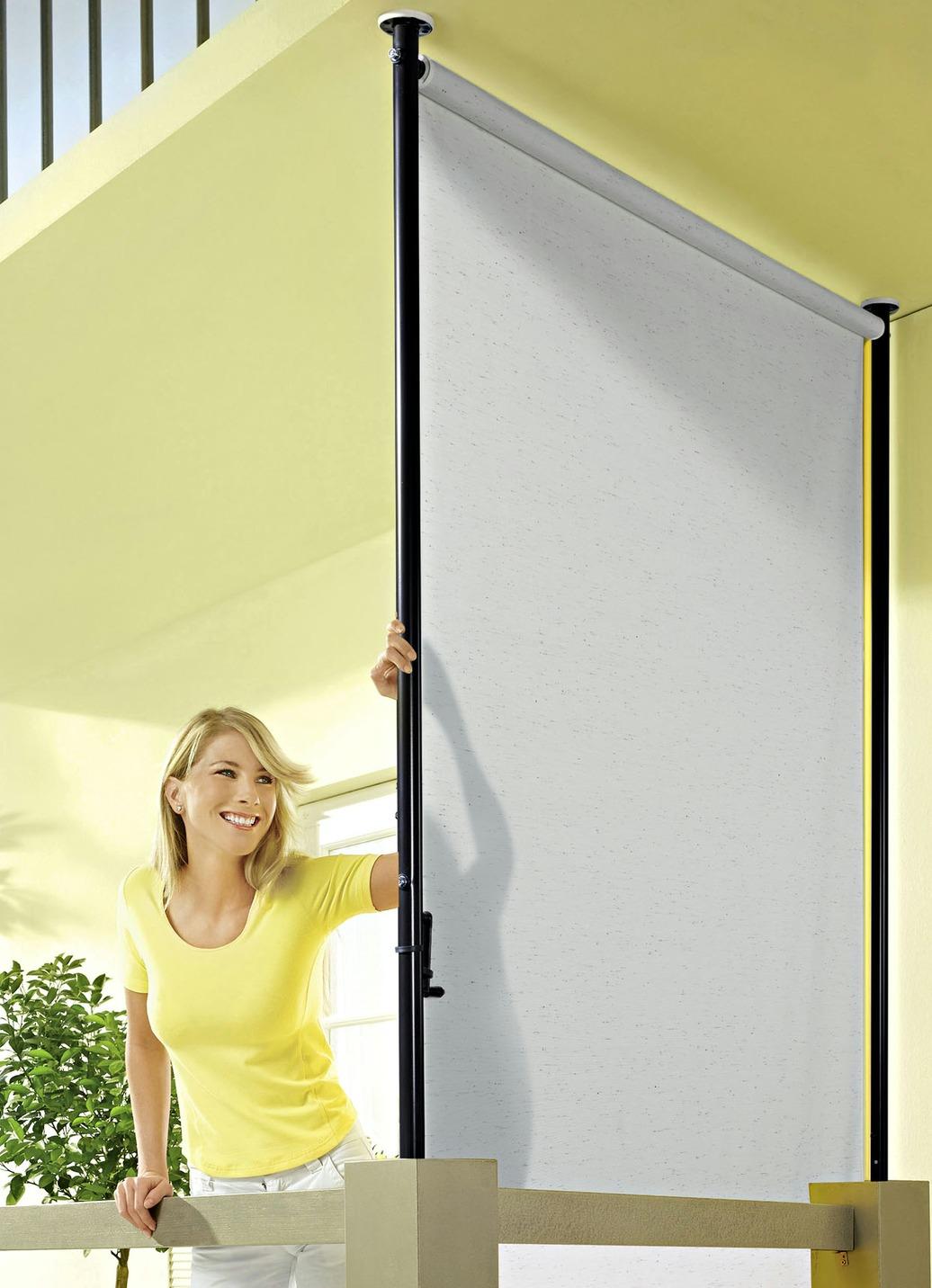 """Balkon Seitensichtschutz """"Style"""" in verschiedenen Farben"""