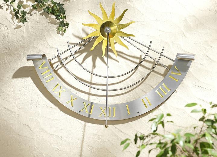 Sonnenuhr aus wetterfestem Edelstahl - Gartendekoration | Brigitte ...