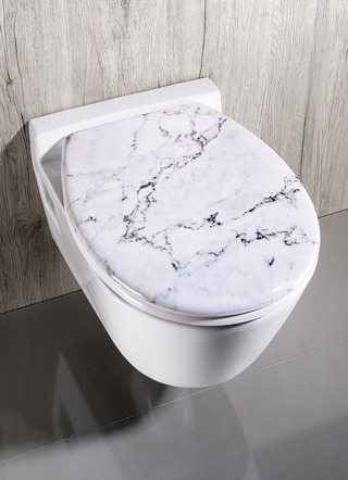 WC-Sitz aus Duroplast in Marmor-Optik