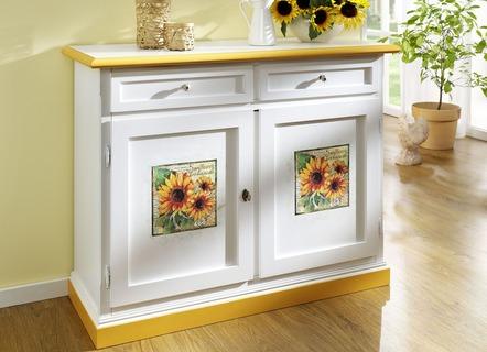 Möbel Serie Mit Sonnenblumendekor