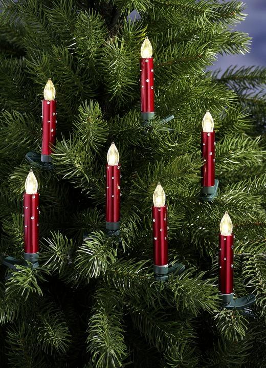 Weihnachtsbaumkerzen-Set, 20-teilig, in verschiedenen Farben.