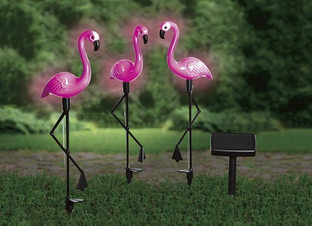Solar-Flamingos, 3er-Set